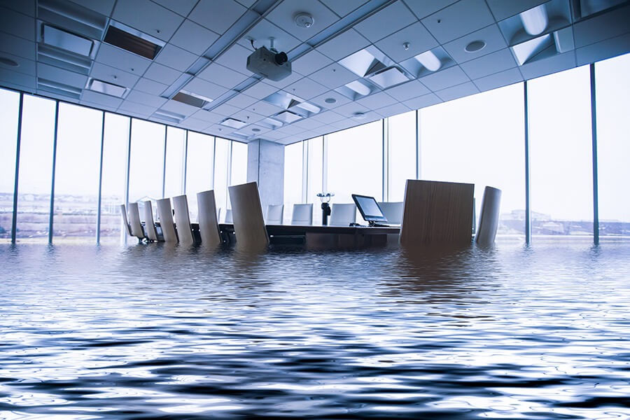 Flood Insurance - Conference Room Under Water